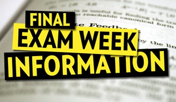Important Final Exam Information