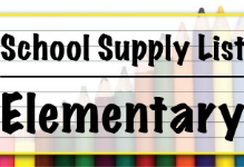 2019-2020 Roosevelt Supply Lists