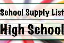 2019-2020 High School Supply Lists