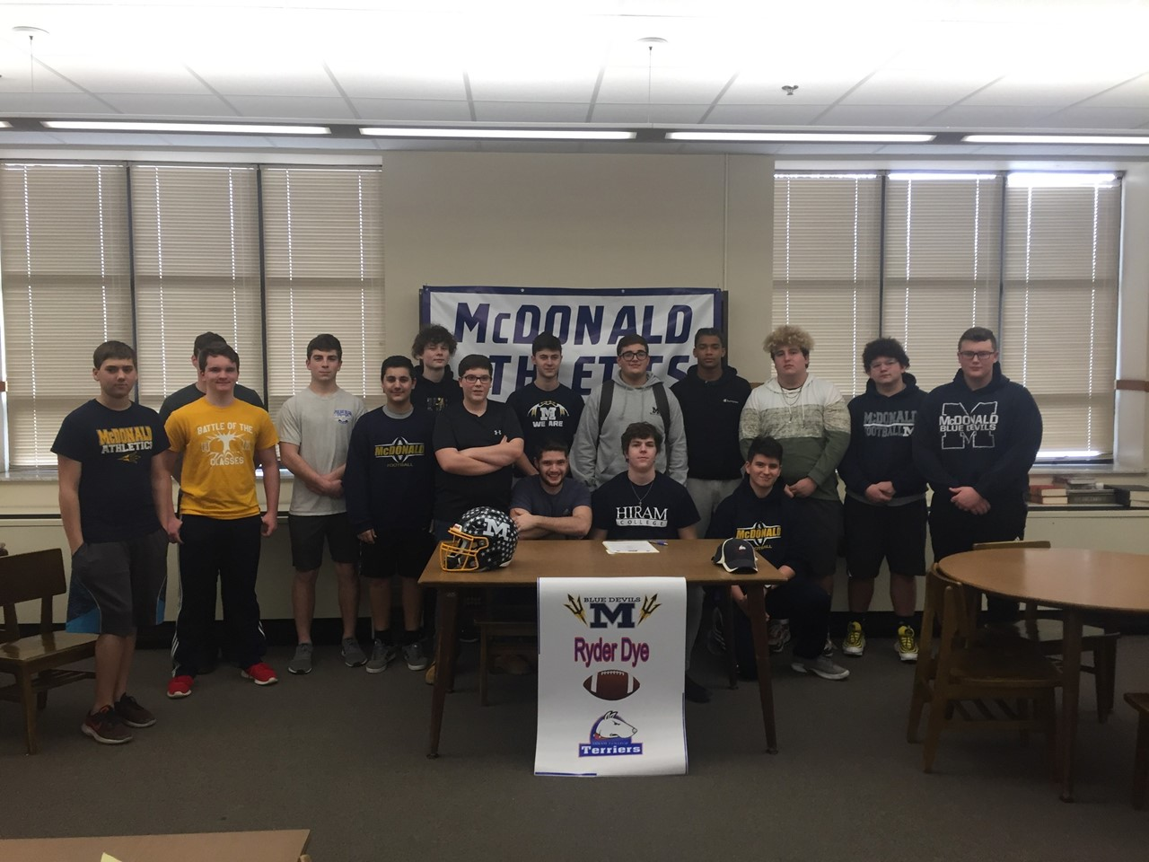 Ryder Signing with Hiram