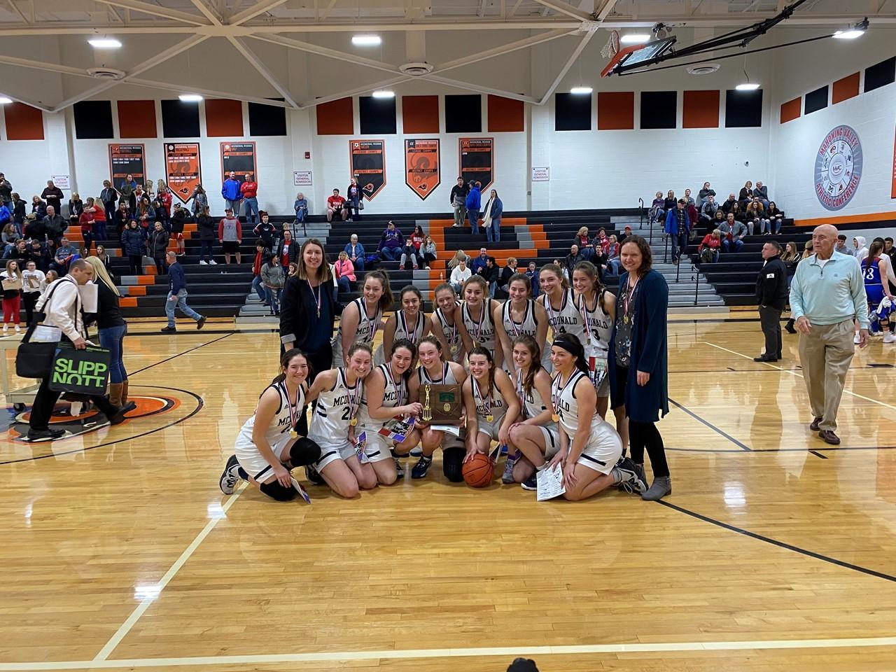 Girls Varsity Basketball district champs